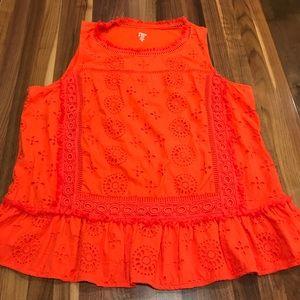 Crown and Ivy 1X orange top